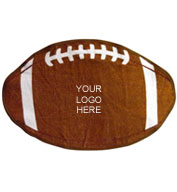 Football Shaped Sports Towel