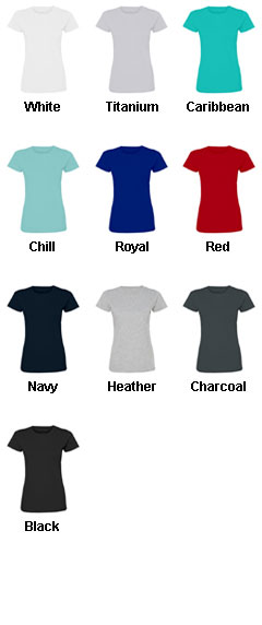Ladies Fine Jersey T-Shirt - All Colors