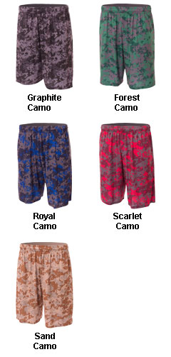 Adult Camo Performance Short - All Colors