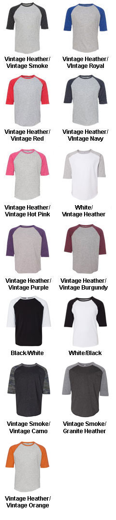Adult Vintage Baseball T-Shirt - All Colors