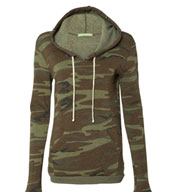 Alternative Apparel Ladies Athletic Hooded Pullover