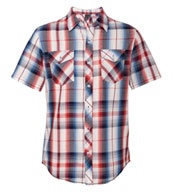 Burnside Young Mens Plaid Short Sleeve Shirt