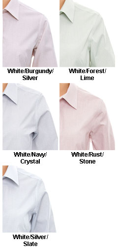 Ladies Micro Tattersall Dress Shirt - All Colors