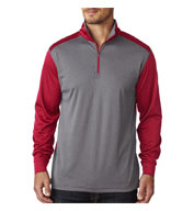 UltraClub Cool & Dry Sport 2 - Tone Quarter Zip Pullover