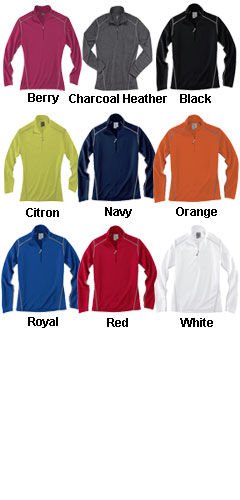Rivers End Ladies Half Zip Mock Cover Up - All Colors