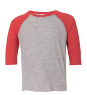 Toddler Fine Jersey 3/4 Sleeve Baseball T-Shirt
