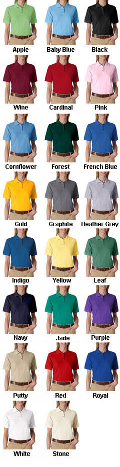 UltraClub Ladies Whisper Pique Polo - All Colors