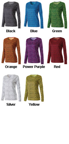 Ladies Long Sleeve Space Dye Shirt - All Colors