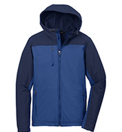 Mens Hooded Colorblock Soft Shell Jacket