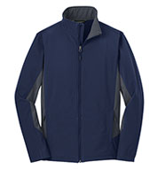 Mens Core Colorblock Soft Shell Jacket