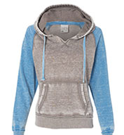 Ladies Zen Contrast Pullover Hooded Fleece