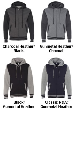 Unisex Varsity Full-Zip Hooded Sweatshirt - All Colors