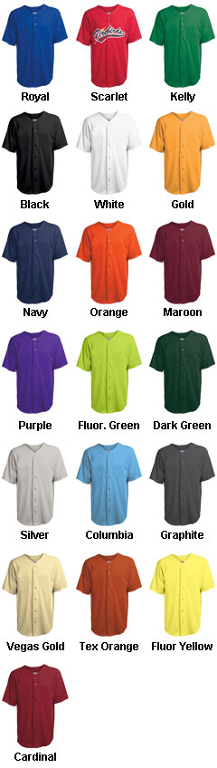 Adult Speedster Full Button Cool Mesh Jersey - All Colors