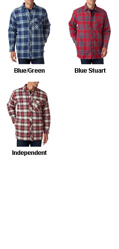Backpacker Mens Flannel Jacket with Quilt Lining - All Colors