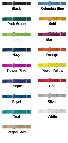 Youth Elastic Baseball Belt - All Colors