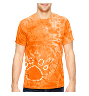 Adult Team Pawprint Tie-Dyed T-Shirt