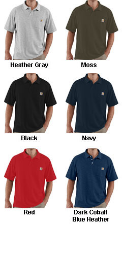Carhartt Contractors Work Pocket Polo - All Colors