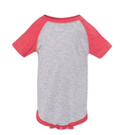 Fine Jersey Infant 3/4 Sleeve Baseball Onesie