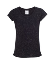 Girls Glitter Tee from J America