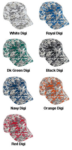 Digi Camo Cotton Twill Cap - All Colors