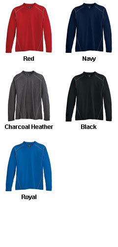 Mens Contrast Stitch Long Sleeve Crewneck Tee - All Colors