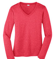 Ladies Long Sleeve Heather Contender Tee