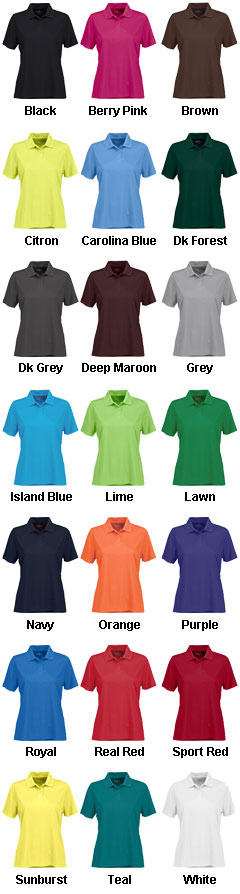Womens Vansport™ Omega Solid Mesh Tech Polo - All Colors