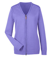 Ladies Manchester Fully-Fashioned Full-Zip Sweater