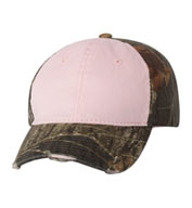 Frayed Womens Camouflage Cap