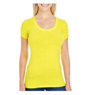 Threadfast Apparel Ladies Spandex Short-Sleeve Scoop Neck T-Shirt
