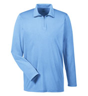Mens Cool & Dry Heathered Performance Quarter-Zip