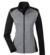 Ladies Mélange Newbury Colorblock Fleece Full Zip