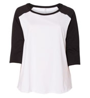 Ladies Curvy Fit Baseball Tee