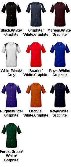 Adult Bull Pen Full Button Jersey - All Colors