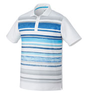 Mens Puma Washed Striped Polo