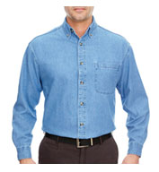 Denim Shirt Long Sleeve Men's