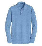 Mens Long Sleeve Meridian Cotton Blend Polo