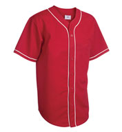 Adult 6-Button Baseball Jersey with Sewn-On Braid