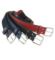 Pro Series All Leather Baseball Belt