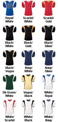 Adult Striped Steelmesh Football Jersey - All Colors