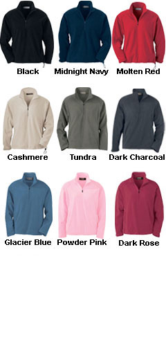 Ladies MicroFleece Half Zip - All Colors