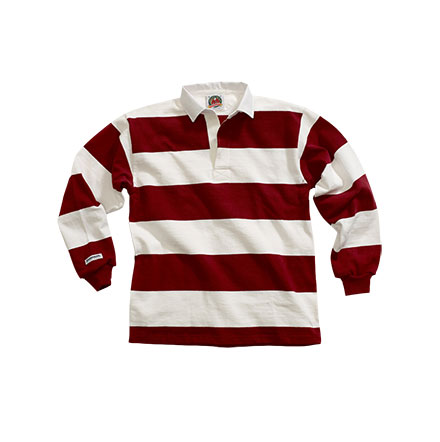 Rugby Shirt Traditional Long Sleeved 4 Inch Stripe Custom Mens