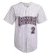 Adult Pro Style Pinstripe 6 Button Front Jersey Mens