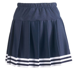 Teamwork Skirt 4055 Five Stripe Pleated With Trim Womens
