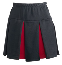 Teamwork 4058 Contrast Color Pleated Skirt - Womens