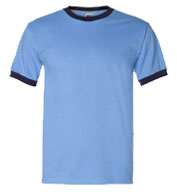 Heavyweight 100% Cotton Ringer Tshirt - Adult Mens