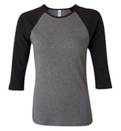 Bella 3/4 Sleeve Raglan Colorblock T-shirt - Ladies
