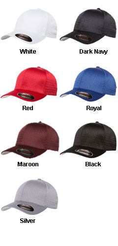Yupoong Six Panel Low Profile Athletic Mesh Flexfit Cap - All Colors