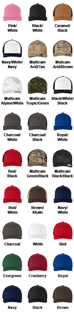 Yupoong Flexfit® Two Tone Custom Mesh Truckers Cap - All Colors