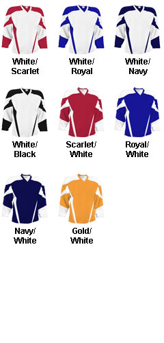 Custom Adult Air Mesh Deluxe Hockey Jersey - All Colors
